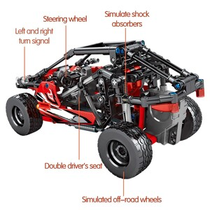 SEMBO 701402 Juggernaut Hurricane: Dodge sports car pull back Technic
