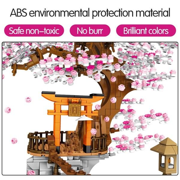SEMBO 601076 Cherry Blossom Season Street View