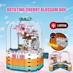 SEMBO 601077 Cherry blossom season: transparent light rotating box Street View