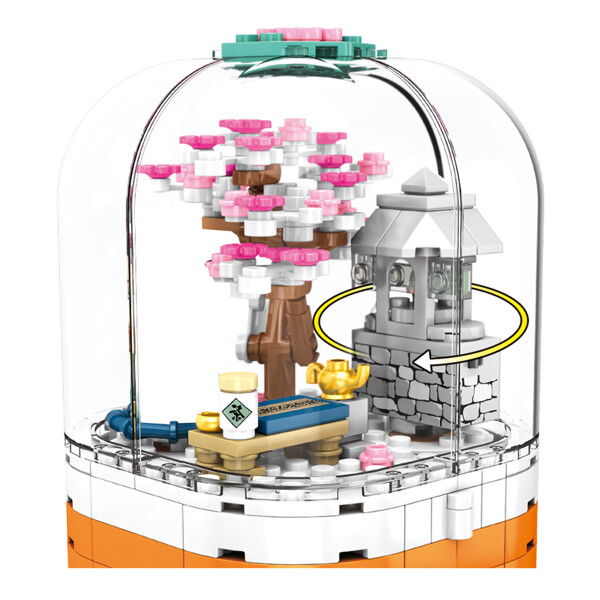 SEMBO 601077 Cherry blossom season: transparent light rotating box Street View