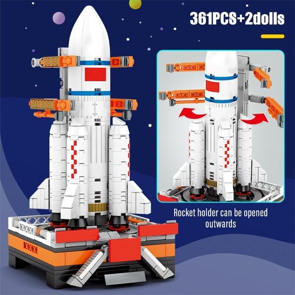 SEMBO 203012 Super Meng Rocket: Long March 5 (CZ-5) carrier rocket Space Flight