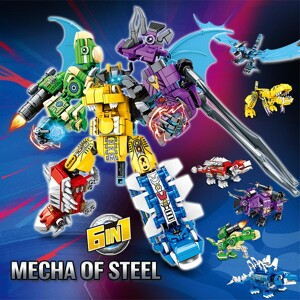SEMBO 103105-10 Steel Mecha: Accumulate into Steel Dragon Knight