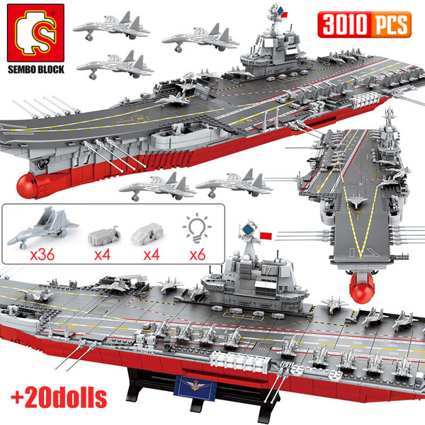 SEMBO 202001 Chinese People's Liberation Army Navy Shandong Ship Aircraft Carrier