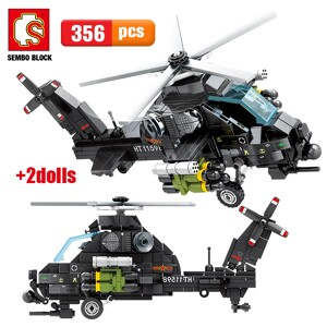 SEMBO 202122 Z-10 Attack Helicopter Technic