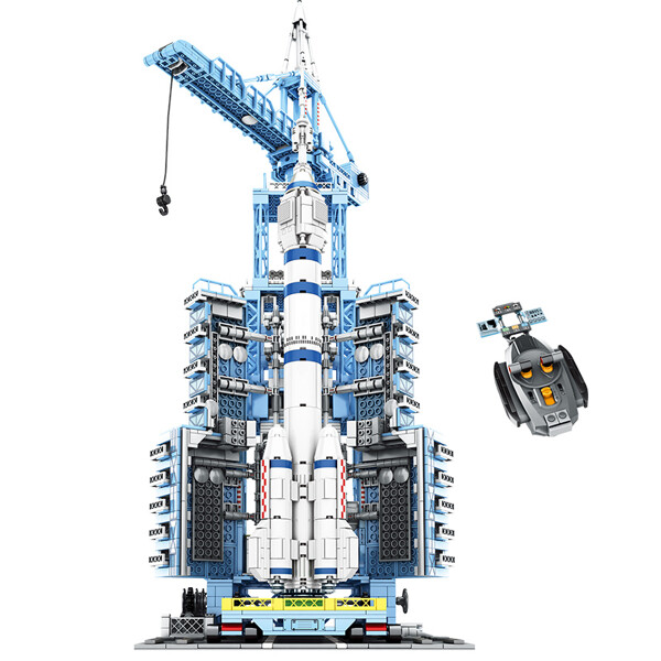 SEMBO 203308 Aerospace Cultural and Creative: Remotely Controlled Manned Spacecraft Launch Base Creator